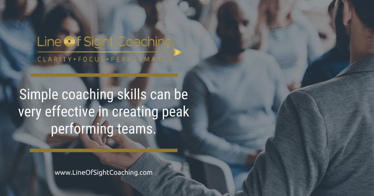 simple coaching skills can be very effective in creating peak performing dental teams